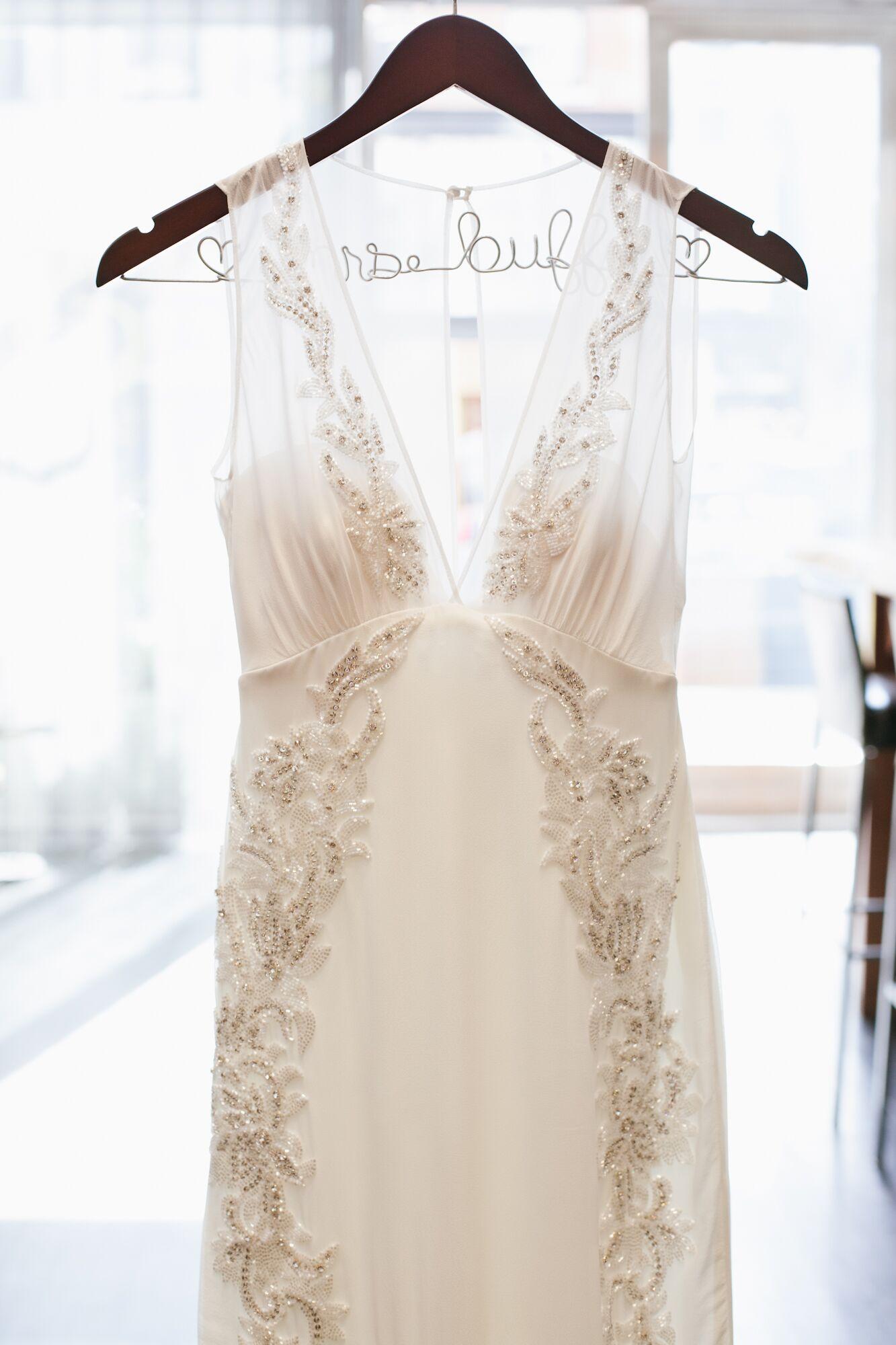 Sequined Nicole Miller Wedding Dress