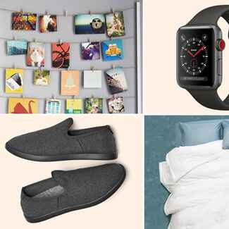 Twine photo hanger, Apple watch, shoes and bedding for 15th year anniversary