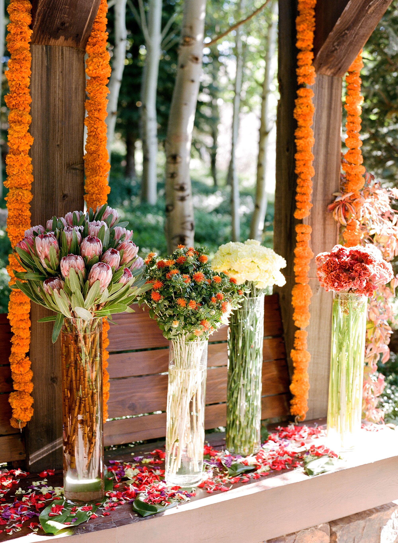 Orange Marigold Flower Garlands