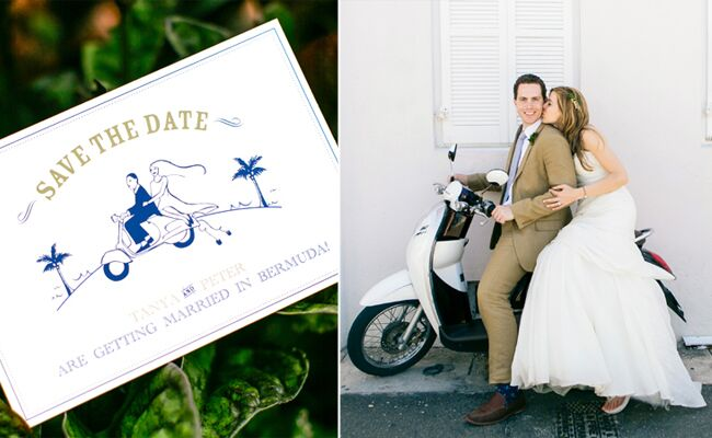 How Cute Is This Destination Wedding Save-The-Date?