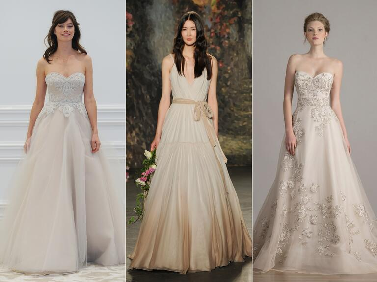Stone-colored wedding dresses