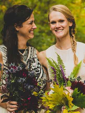 Boho bridesmaid fishtail hairstyle