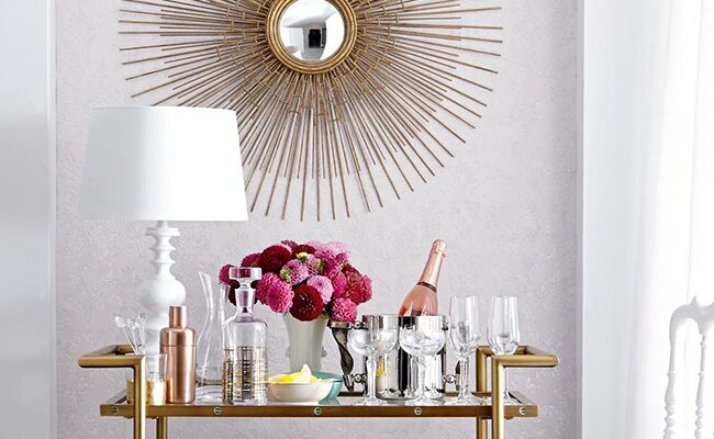 Three Ways to Style a Bar Cart for Just $100