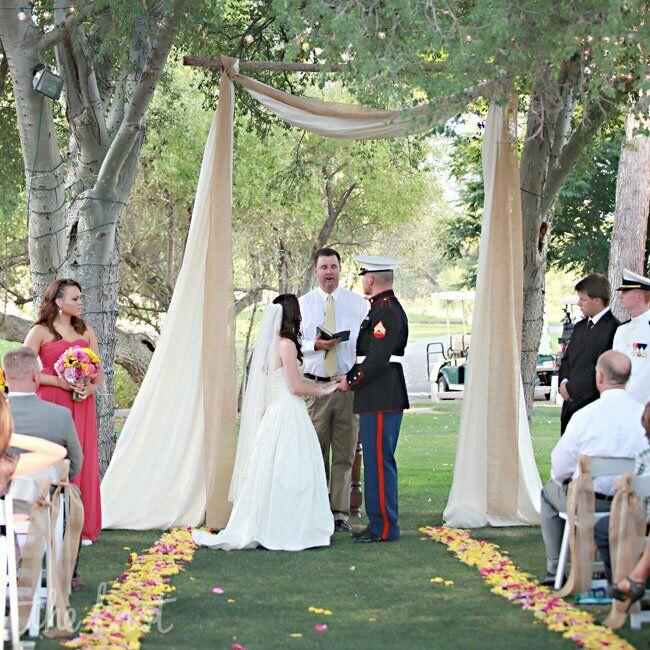 Outdoor Ceremony Altar: A Sunflower Wedding In Tubac, AZ
