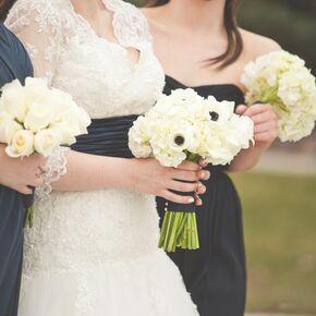 White Hydrangea And Anemone Bouquet