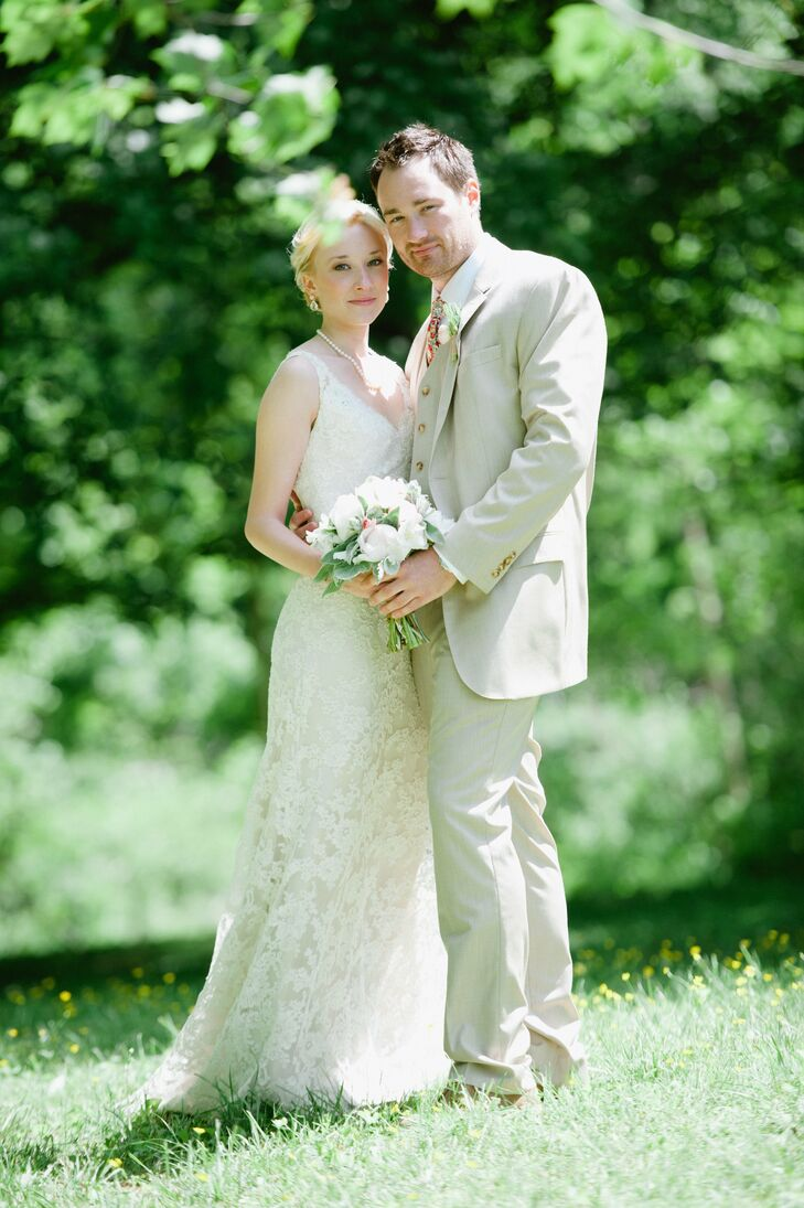 an elegant backyard wedding in ellicott city md