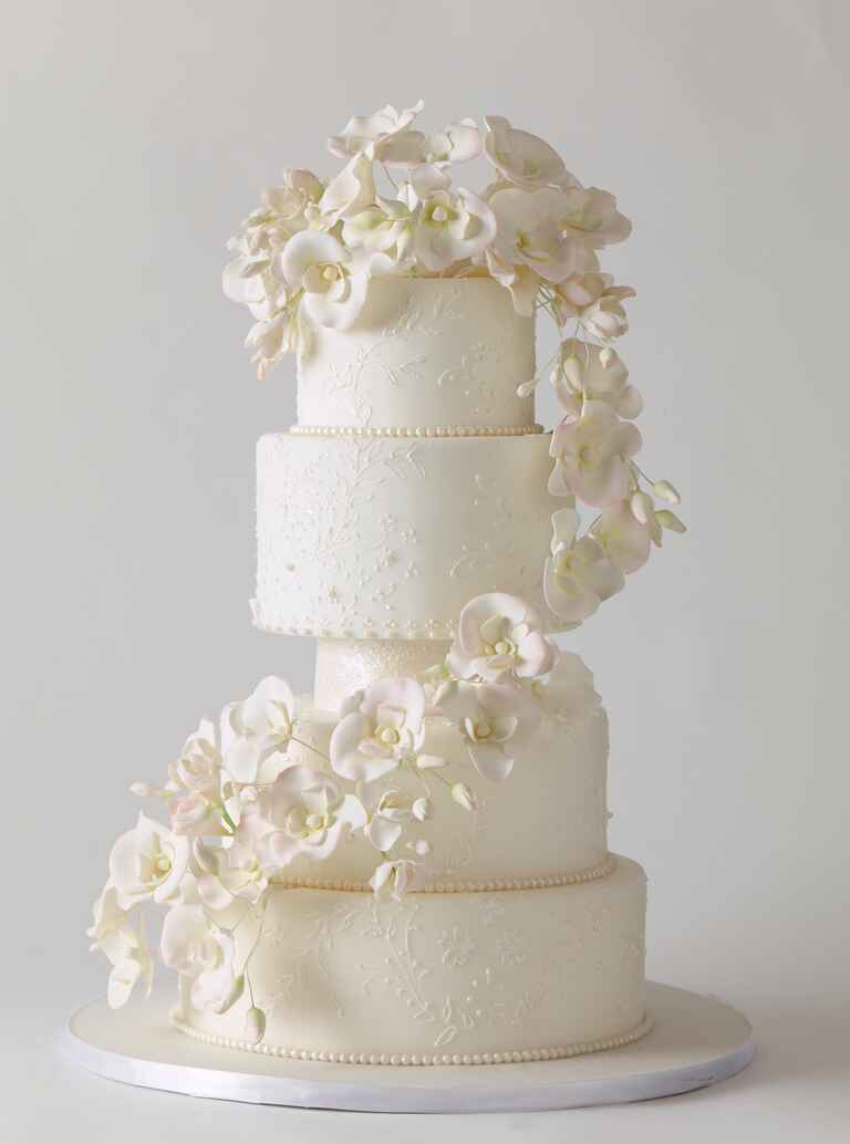 Ana Parzych Cakes sugar flower orchids wedding cake