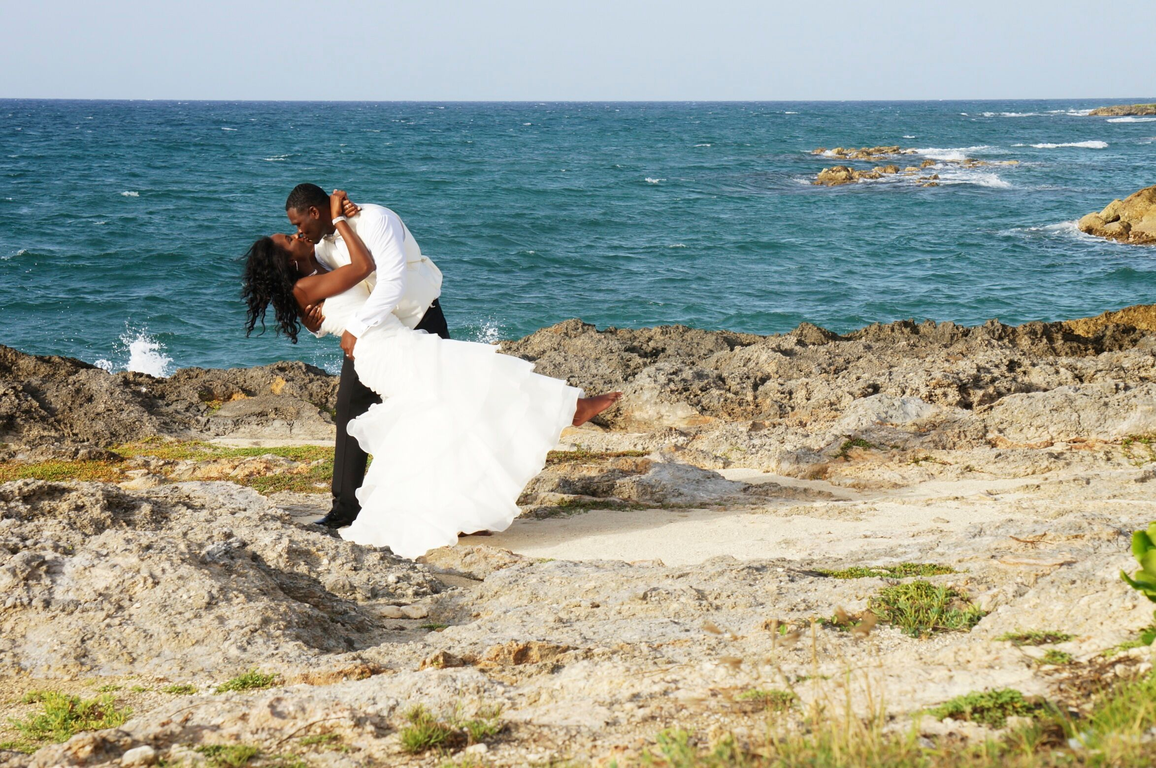 Beach African-American Wedding Photos