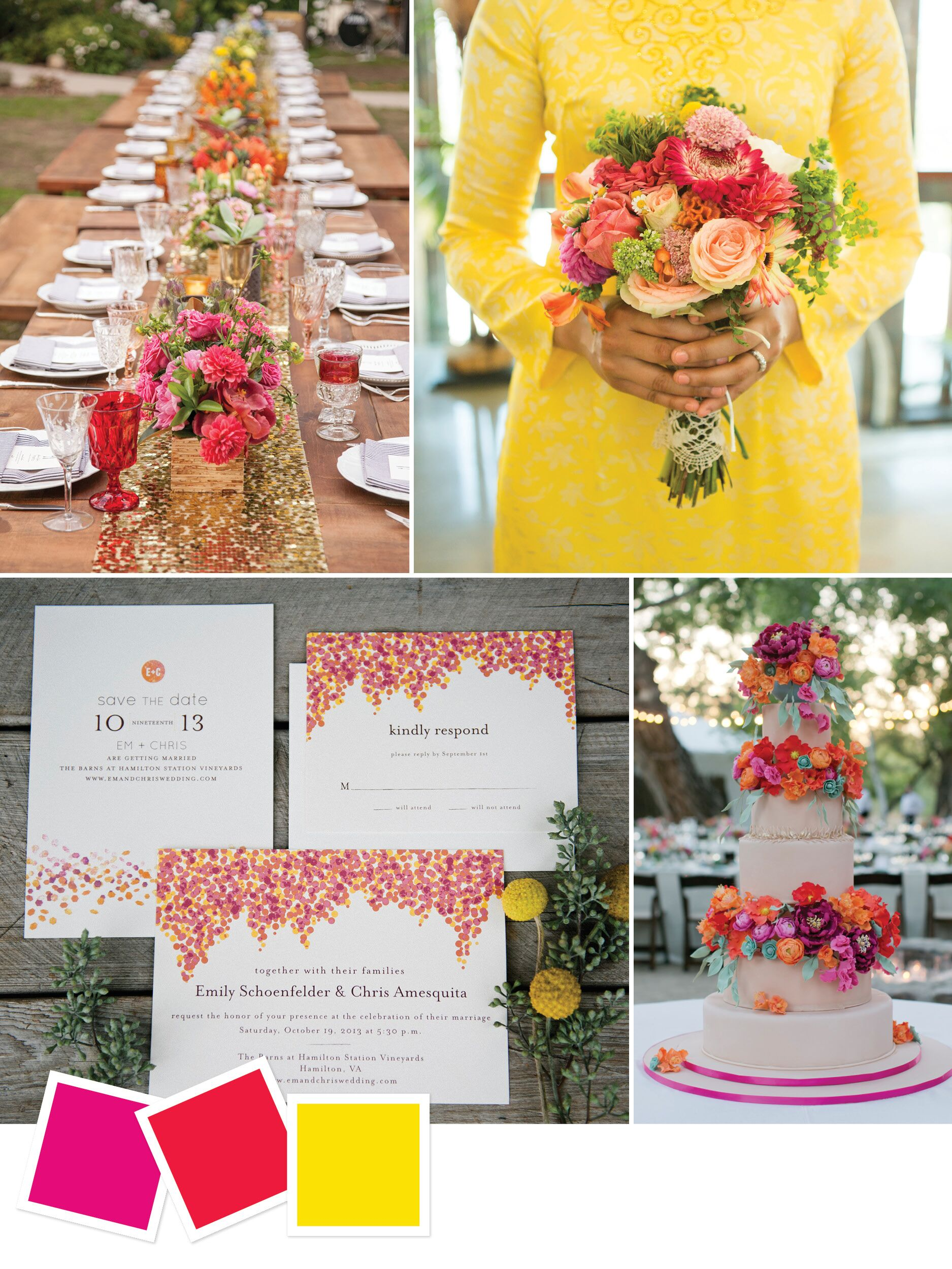 15 Wedding Color Combos You\u0027ve Never Seen