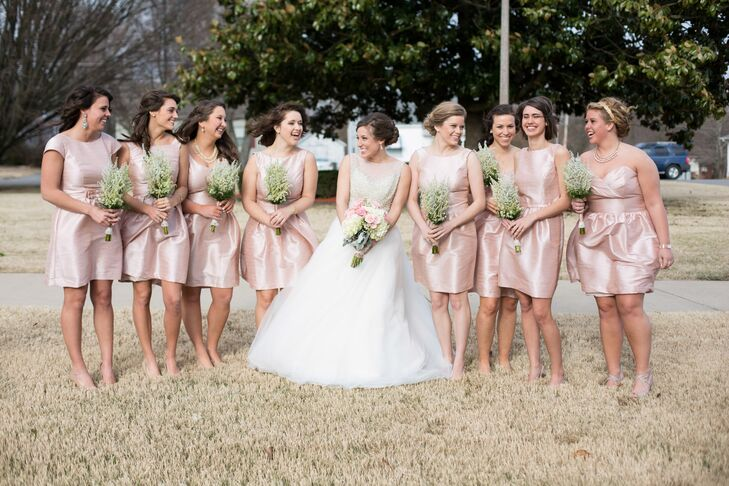 Preppy Champagne Bridesmaid Dresses