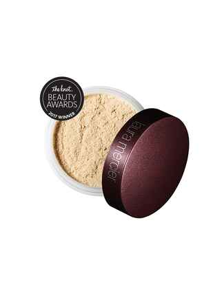 The Knot's top pick for best powder is the Laura Mercier Translucent loose setting powder