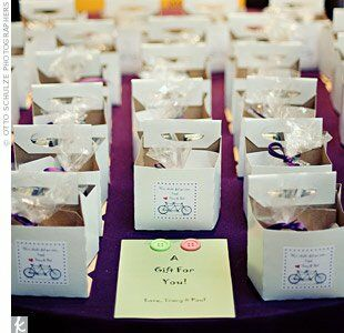 Bicycle Wedding Favors Favorite Guests Took Home Cartons Of Organic Milk And Cookies From The S Colorado Bakery
