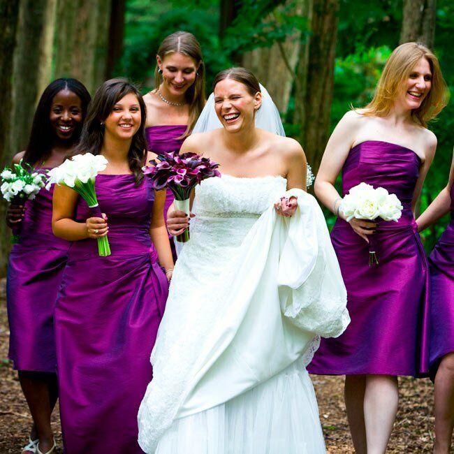 Cheap Wedding Dresses Mn: Melanie & Chris: A Purple Outdoor Wedding In Katonah, NY