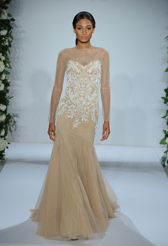 Dennis Basso Wedding Dresses 2015 Feature Cascading Ruffles for Fall