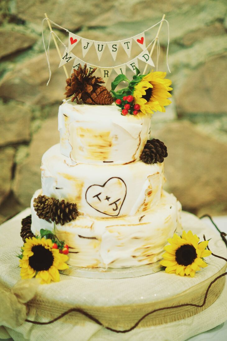 Rustic Woodland Wedding Cake