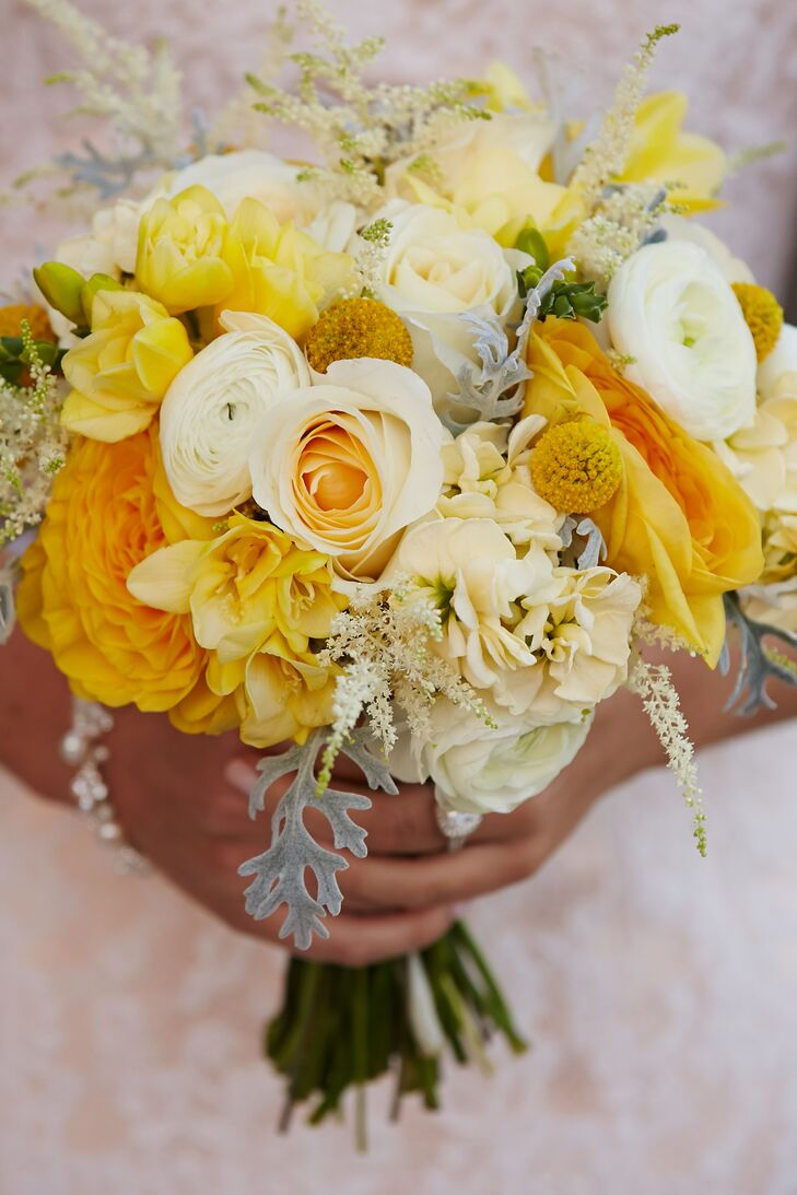 Cheery Canary Yellow Bridal Bouquet