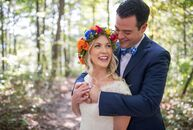 Macall and Kevin Speaker planned a vibrant, nature-inspired fete to celebrate their nuptials and pay tribute to their home state of West Virginia. The