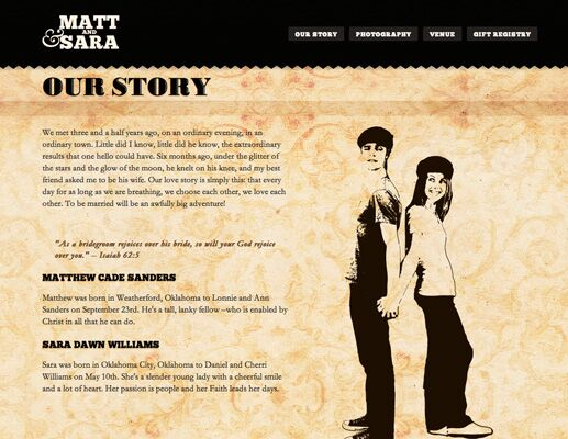 Sara And Matt S Wedding Website