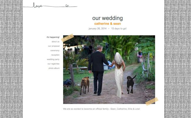 Sean and Catherine's Wedding Website!