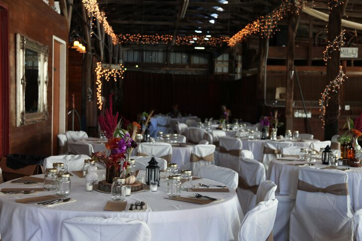 An Indoor Barn Reception at Gallagher Barn