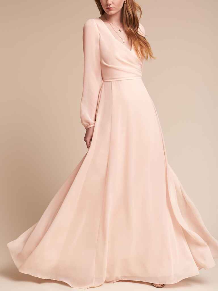 Watters Nova dress in Ice Pink