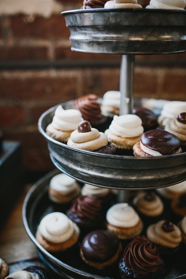 Industrial Metal Cupcake Stand