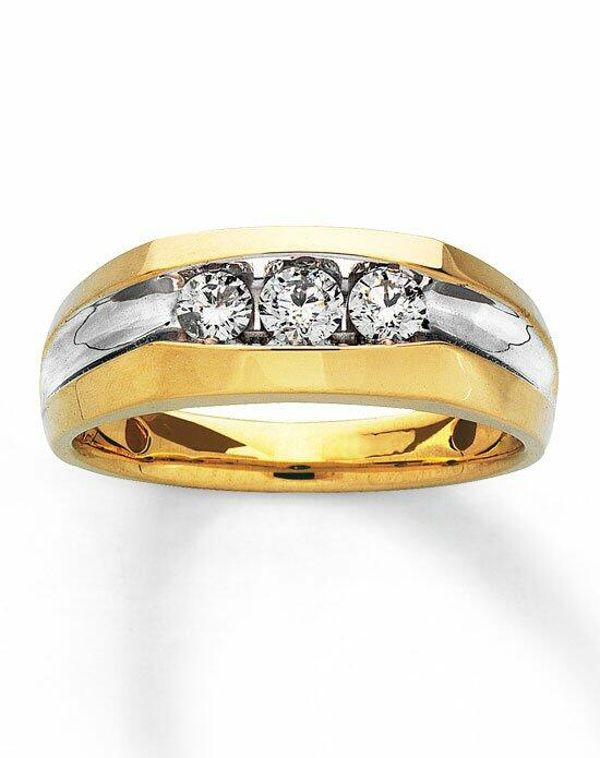 Kay Jewelers 14ky 1/2ct men's dia 3-stone-30799403 Wedding Ring photo