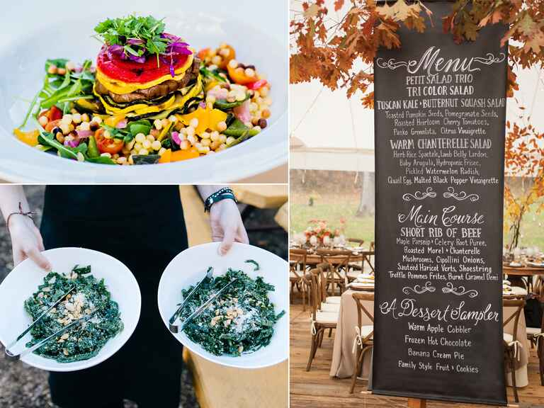 Farm-to-table locally sourced wedding menus