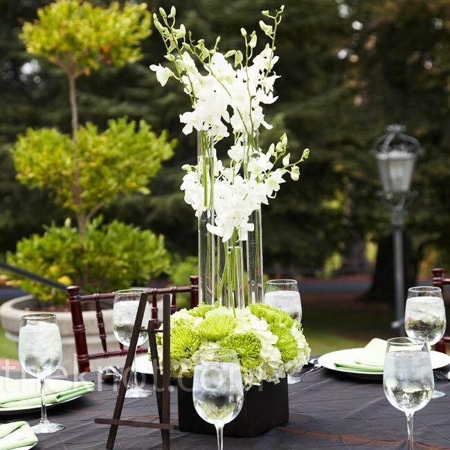 Orchid Flower Arrangements For Weddings: Modern Orchid Centerpiece
