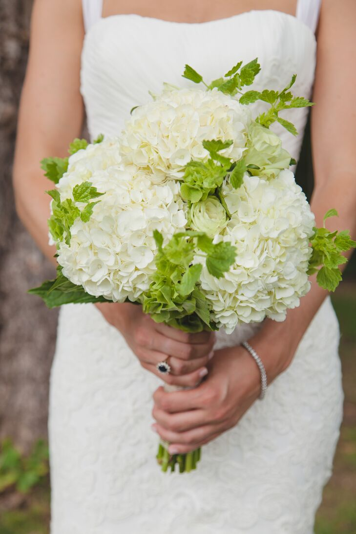 Diy Hydrangea And Bells Of Ireland Bouquet