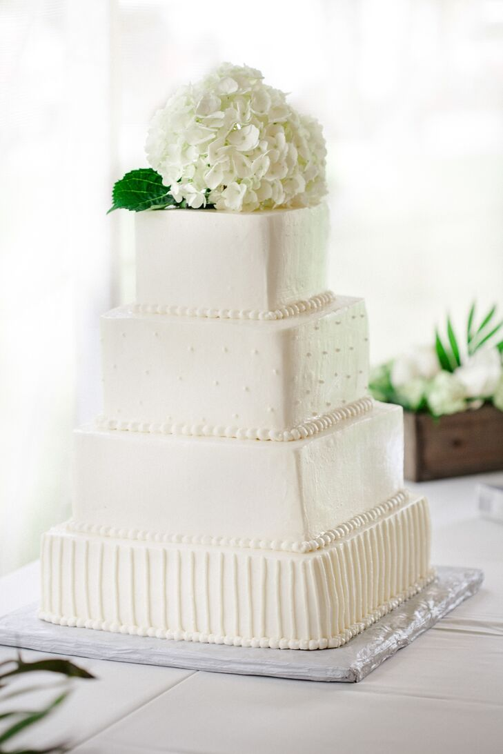 square 4 tier wedding cakes simple white four square tier wedding cake 20343