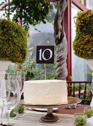 Wedding cake table number