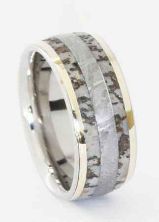 Dinosaur Bone Wedding Band