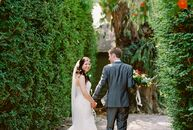 Tess Hsiung and Fill Faught tapped their venue's lush garden setting to infuse their wine country wedding with an elegant, organic edge. Lush greenery