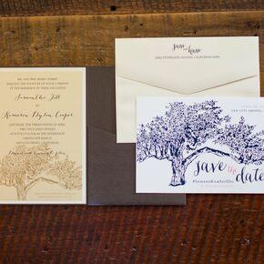 tree invitation suite - Vineyard Wedding Invitations