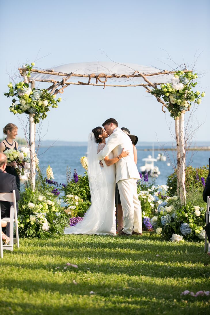 White Birch and Hydrangea Chuppah