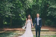 Armed with a classic palette of ivory and blush, Sadie Scott (30 and a nanny) and Jonathan Austin (27 and a student) wed in the backyard of a friend's