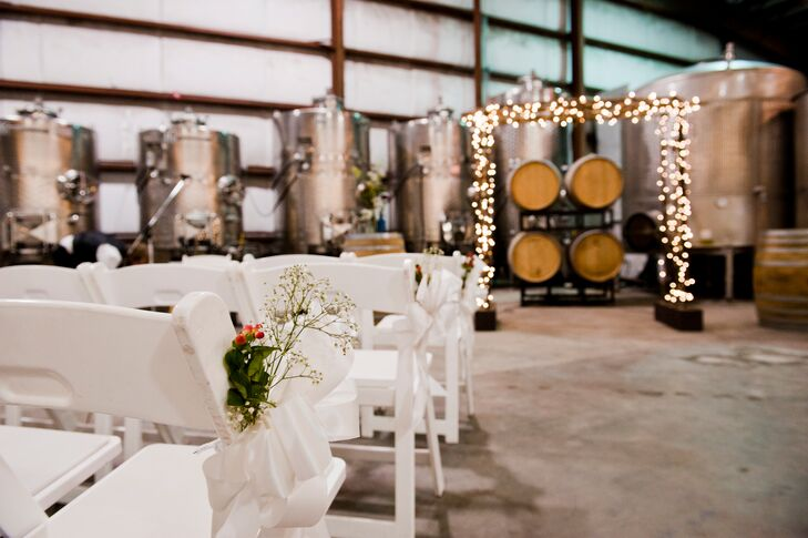 An Indoor Rustic Ceremony: Rustic Indoor Vineyard Ceremony
