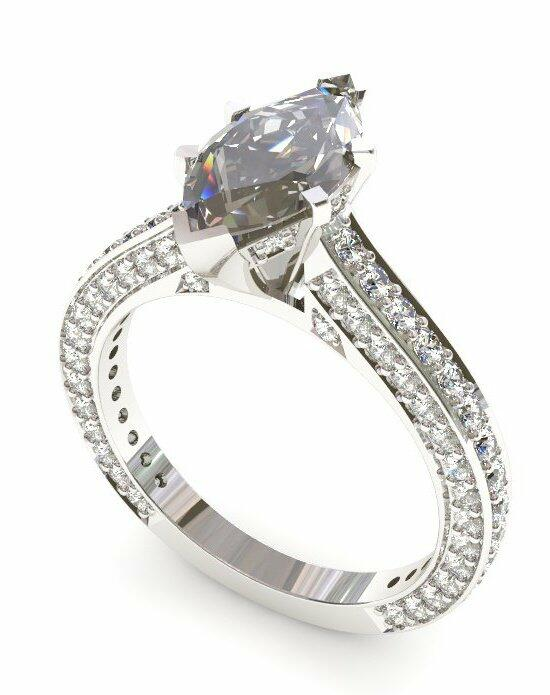 Enchanted Diamonds Pave‎ Cathedral Marquise PV18-4W-M Engagement Ring photo