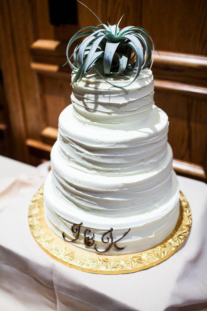White Buttercream Frosting Wedding Cake