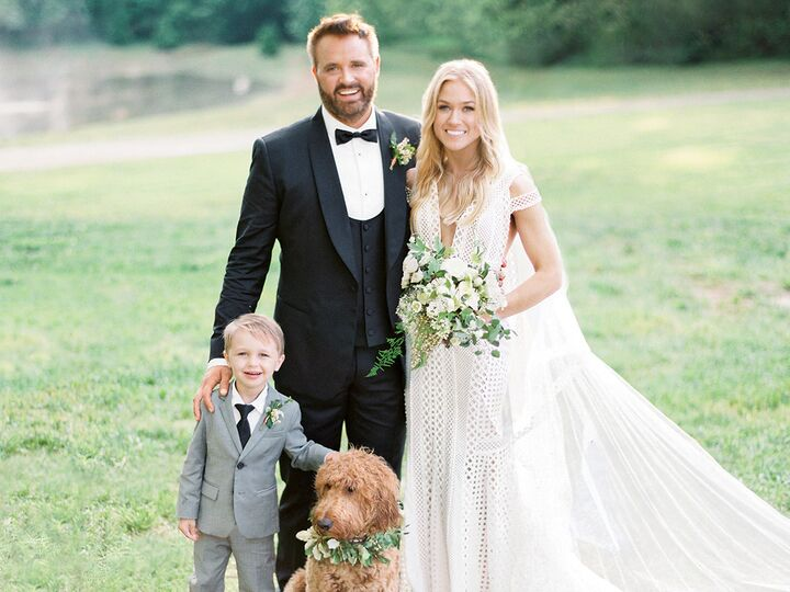 Country music singer Randy Houser and wife Tatiana Starzynski on their wedding day