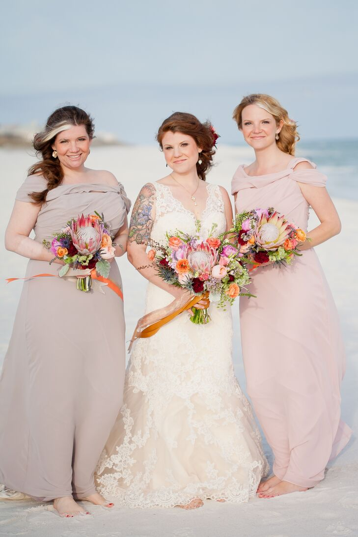 Mauve and dusty rose bridesmaid dresses ombrellifo Image collections