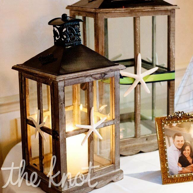 Gift table lantern decor