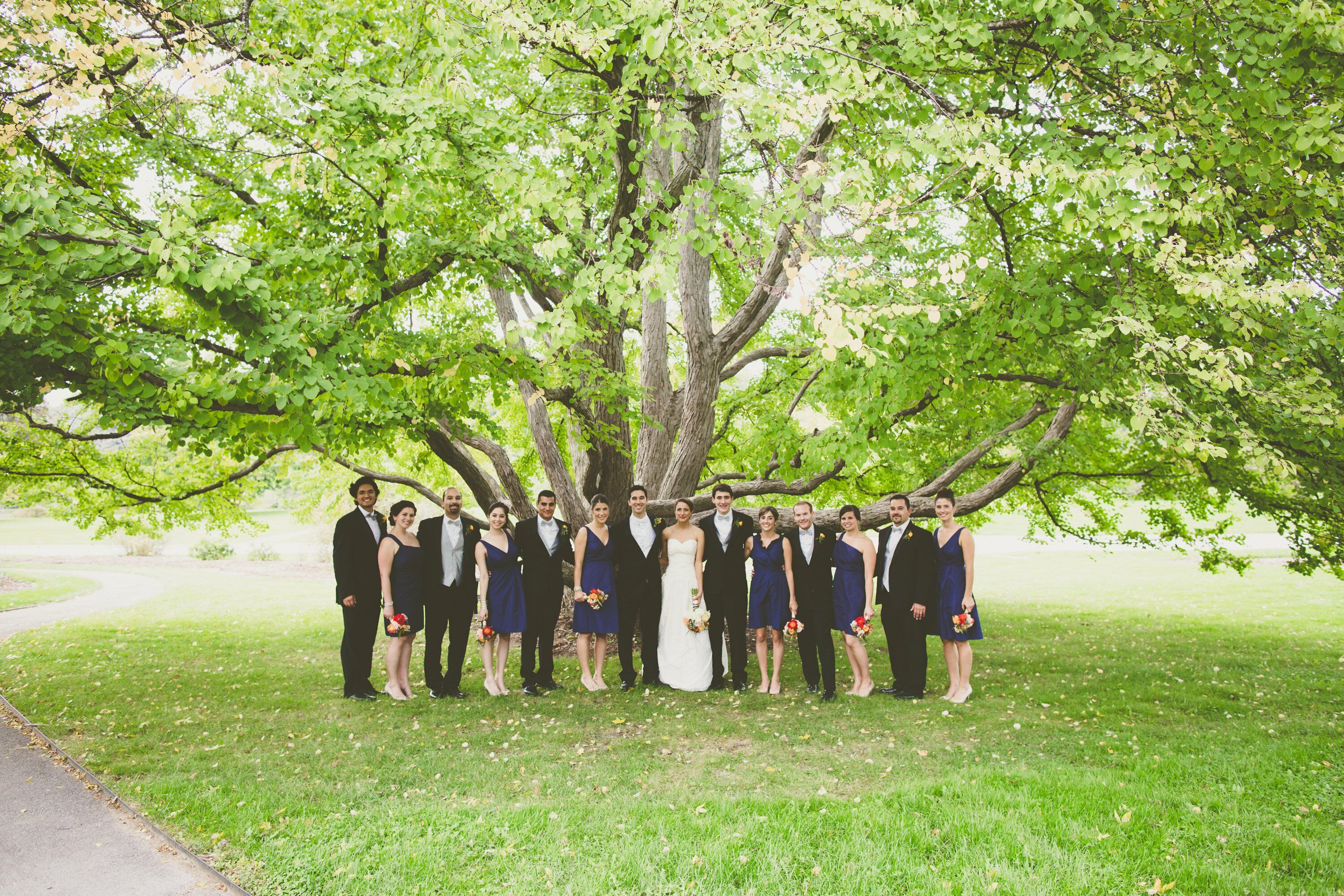 Navy And Black Wedding Party