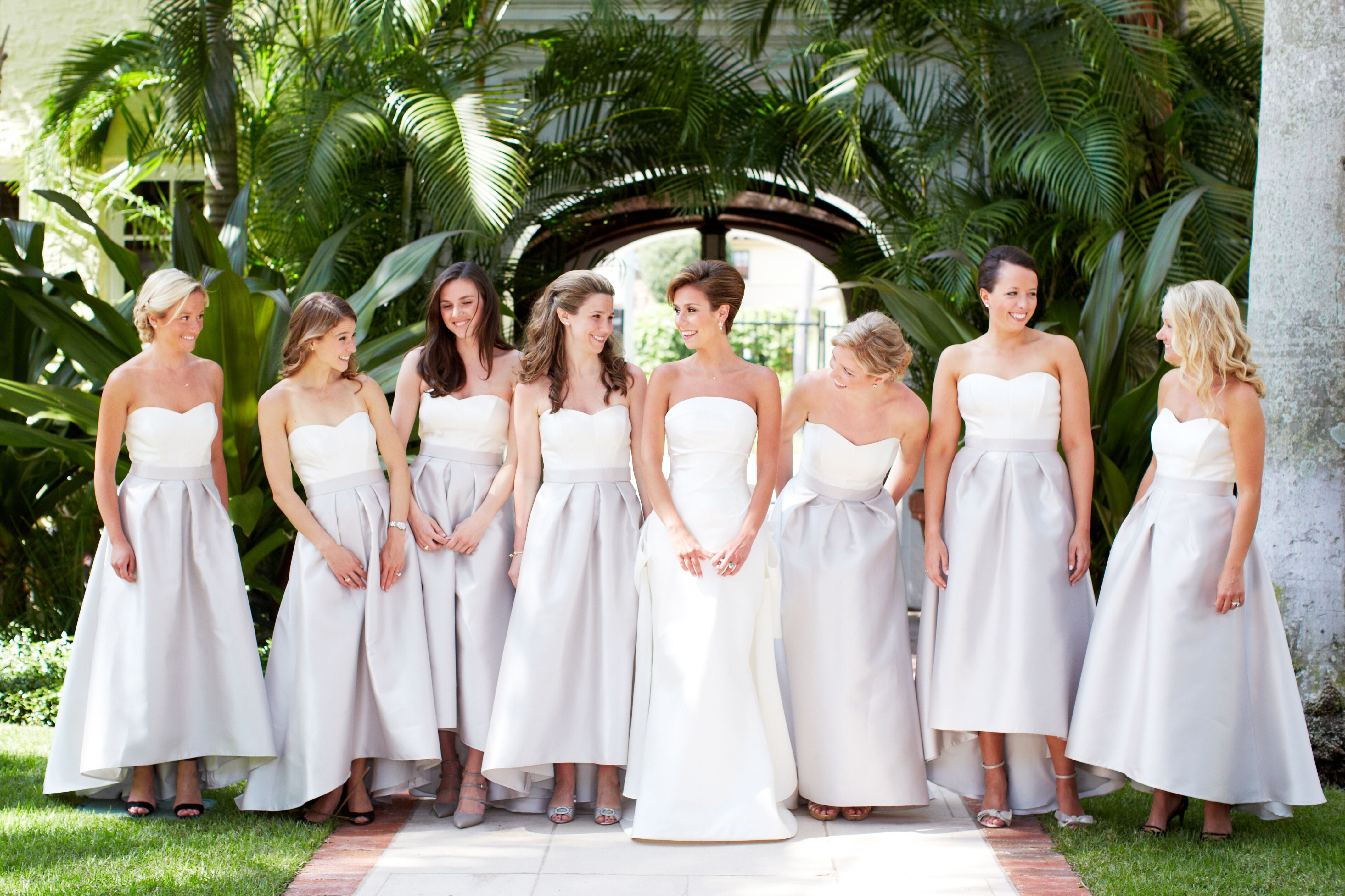 Alfred Sung Two-Piece A-Line Bridesmaid Dresses