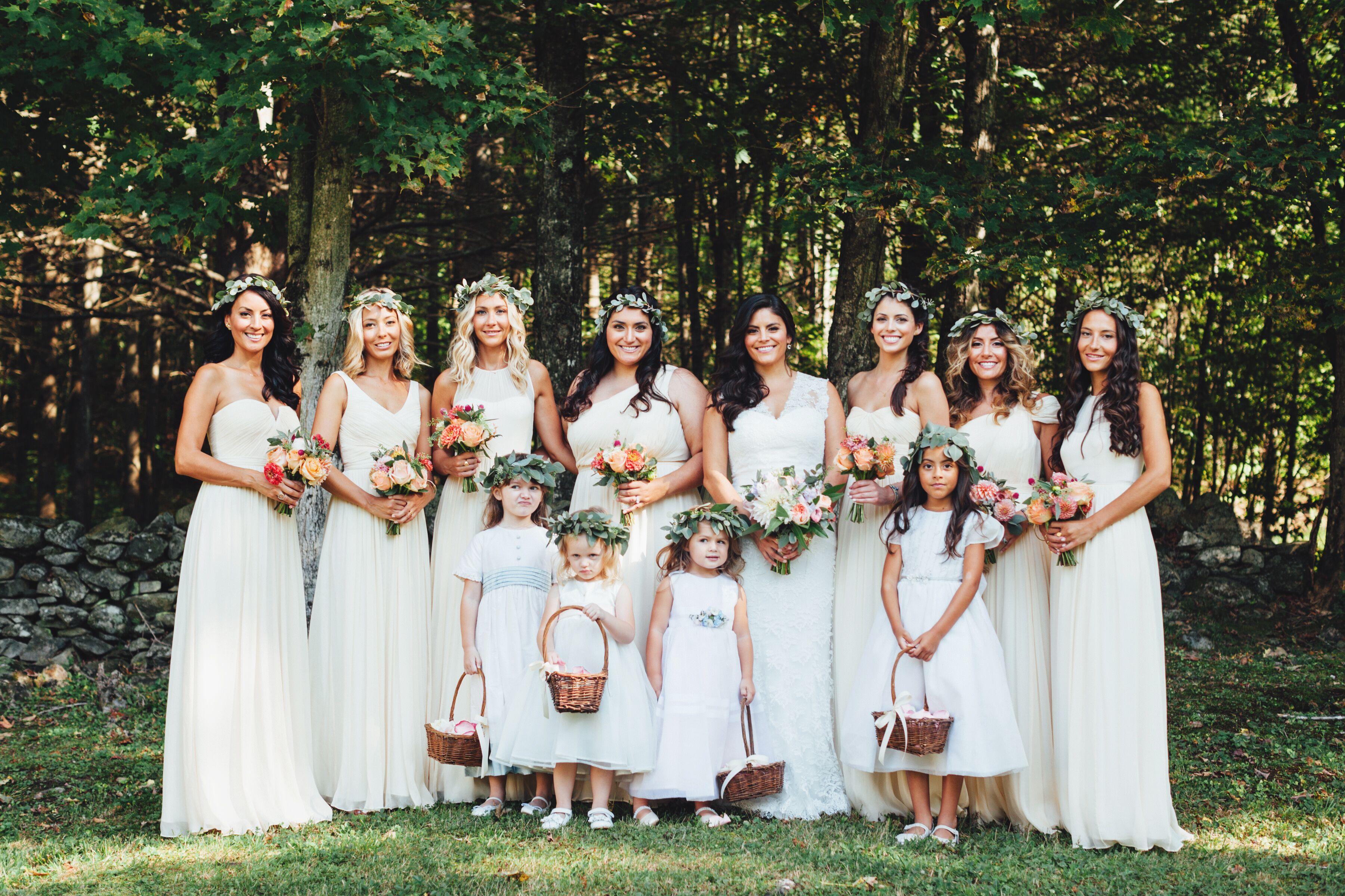 J.Crew Formal Ivory Bridesmaid Dresses