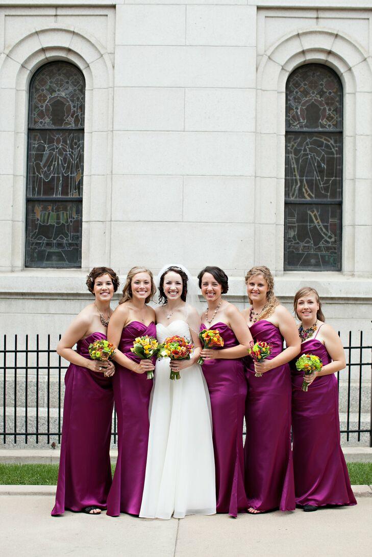 Magenta jim hjelm bridesmaid dresses for Magenta dress for wedding