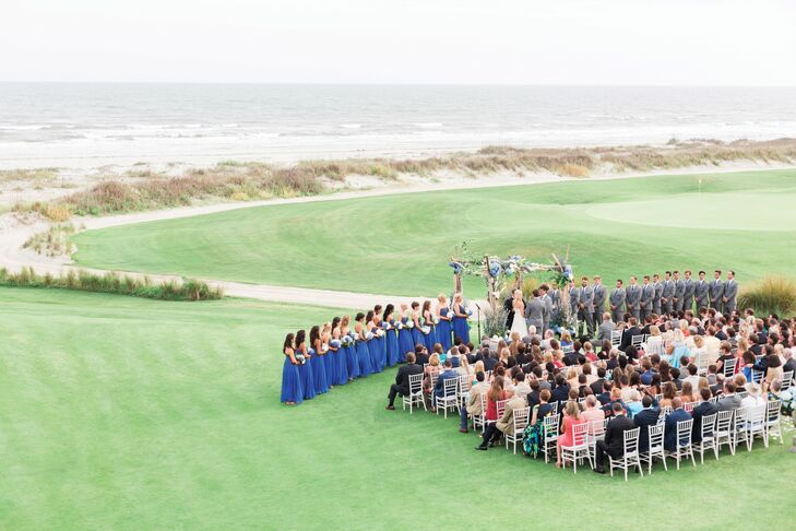"""Charleston has always been one of our favorite places and we quickly fell in love with the surrounding area,"" Nicole says. ""The Ocean Course at Kiawah Island was everything we were looking for in terms of venue: accommodations for our guests and overall experience."""