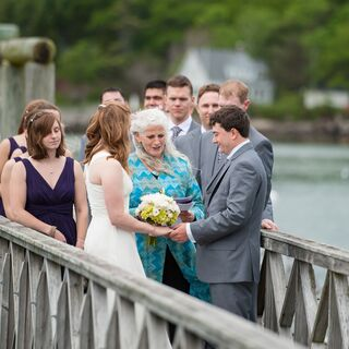 A Beach Wedding in Peaks Island