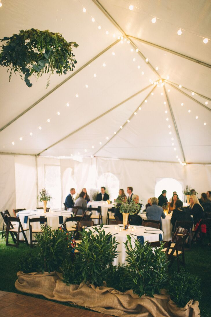 Bistro-Light-Lined Reception Tent